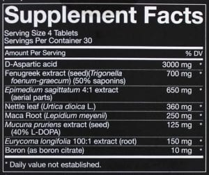Nugenix Ultimate Testosterone Booster Ingredients